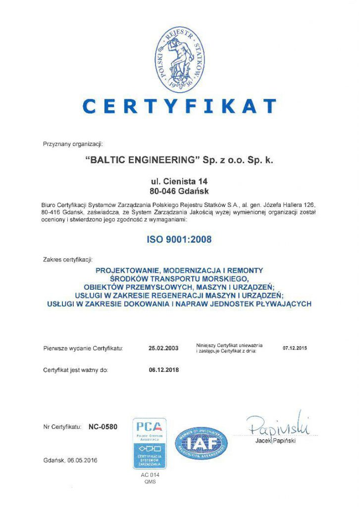 ISO 9001 2008-2016