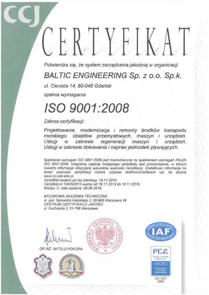 CCJ ISO9001 2008-2013