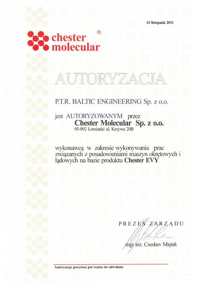 Autoryzacja Chester Molecular