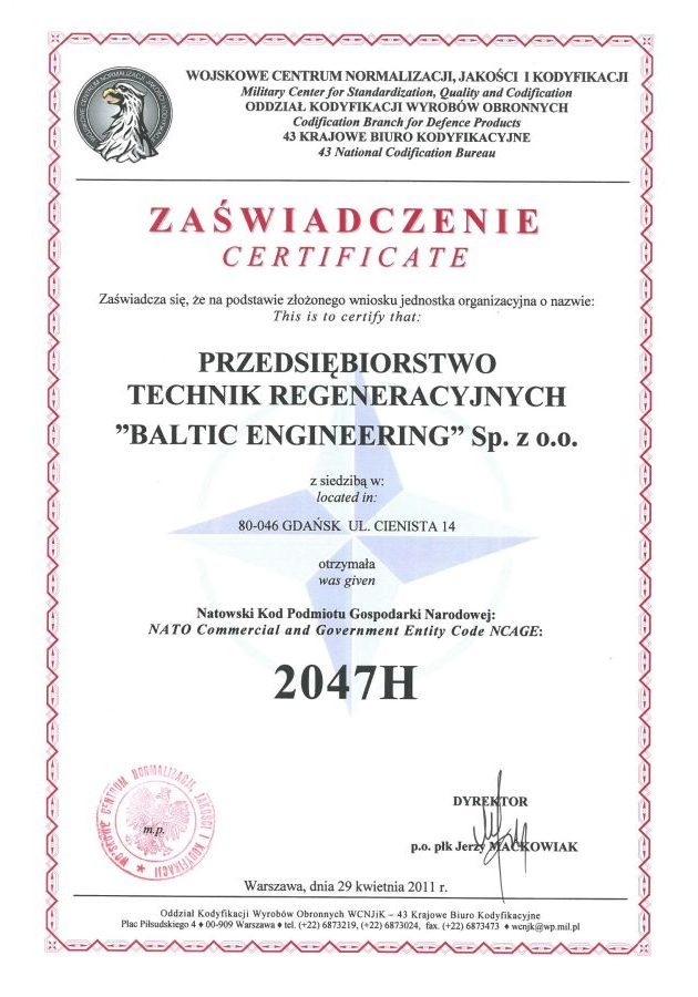 NCAGE Certificate